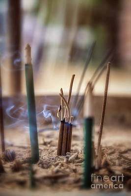 Incense Burning Print by Jane Rix