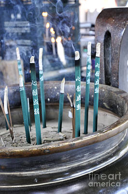 Incense Photograph - Incense In Nara by Andy Smy