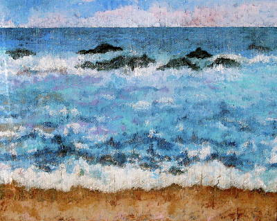 Contemplative Painting - Incoming Tide by Douglas AmEnde