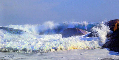 Incoming Tide Photograph - Incoming Wave by Frank Wilson