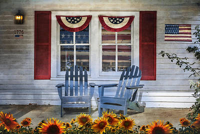 Sun Porch Photograph - Independence Day by Debra and Dave Vanderlaan