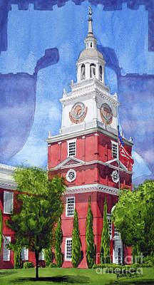 Independence Hall Painting - Independence Hall by Barry Levy