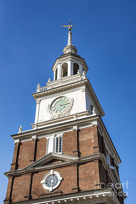Independence Hall Clock Tower Print by John Greim