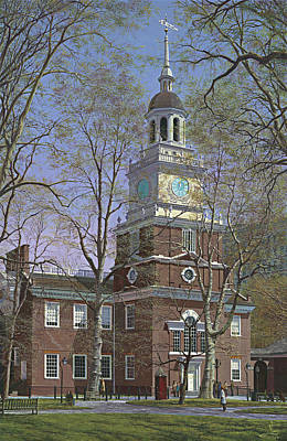 Independence Hall Painting - Independence Hall by Ed Ryder