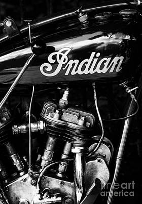 Indian 101 Scout Monochrome Print by Tim Gainey