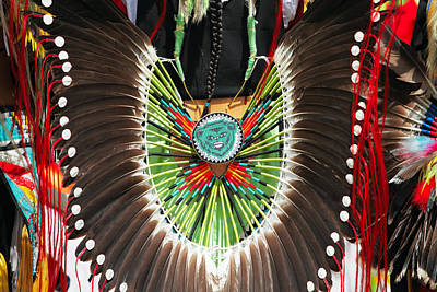 Powwow Photograph - Indian Decorative Feathers by Todd Klassy