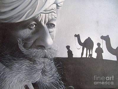 Indian Face Print by Dhiraj Parashar