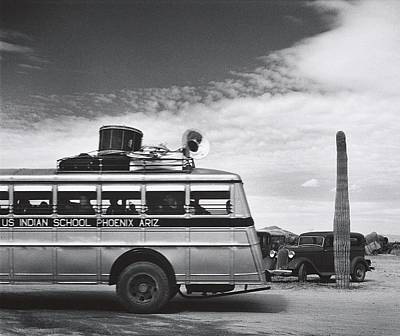 Somewhere Higher Photograph - Indian High School Band On The Road Somewhere In Arizona 1937 by David Lee Guss