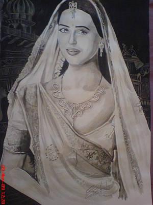 Orlando Bloom Drawing - Indian Lady by Sandeep Kumar Sahota