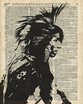 Redskins Mixed Media - Indian Native American by Jacob Kuch