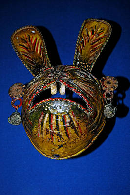 Mask Photograph - Indian Rabbit Mask by LeeAnn McLaneGoetz McLaneGoetzStudioLLCcom