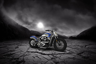 Indian Scout 2015 Mountains Print by Aged Pixel