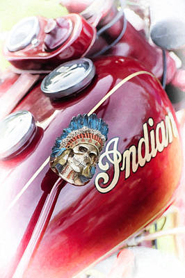 Skull Photograph - Indian Suicide Shifter  by Tim Gainey
