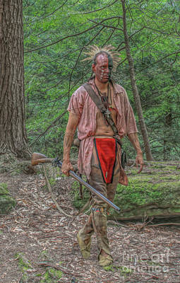 Indian Warrior Bushy Run 1763 Print by Randy Steele