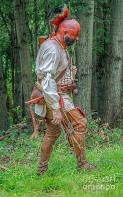 Huron Indian Digital Art - Indian Warrior Grand Encampment by Randy Steele