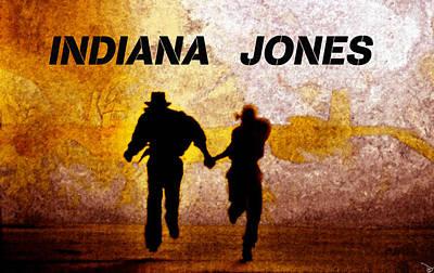 Indiana Scenes Digital Art - Indiana Jones Poster Work A by David Lee Thompson