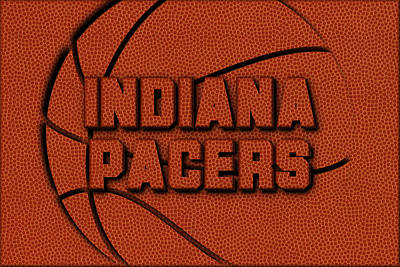 Indiana Pacers Leather Art Print by Joe Hamilton