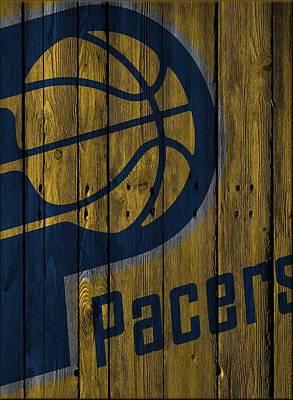 Indiana Pacers Wood Fence Print by Joe Hamilton