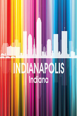 Cityscape Digital Art - Indianapolis In 2 Vertical by Angelina Vick