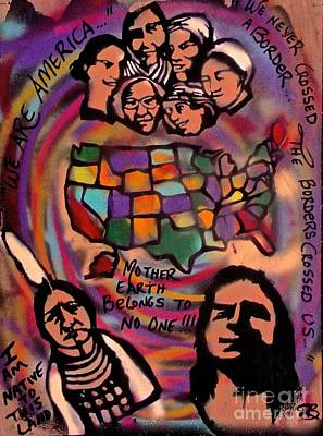 Free Speech Painting - Indigenous America 101 by Tony B Conscious