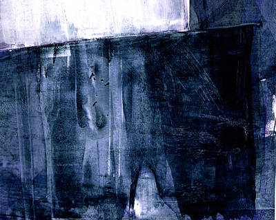Pottery Barn Style Painting - Indigo Abstract by Janine Aykens