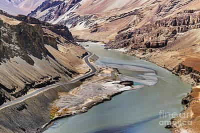 Brown Photograph - Indus River Ladakh Jammu And Kashmir India by Rudra Narayan  Mitra
