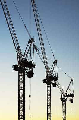 Crane Photograph - Industrial Cranes by Tim Gainey