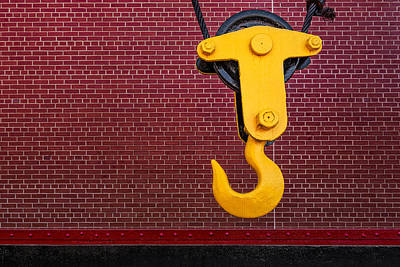 Bolt Photograph - Industrial Hook by Susan Candelario