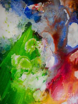 Justine Painting - Industrial Rain by Elle Justine