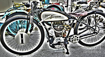 Bike Races Photograph - Indy Race Car Museum Harley Davidson by ELITE IMAGE photography By Chad McDermott