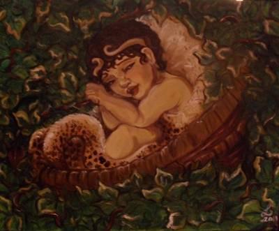 Infant Dionysos Print by Samantha Sanders