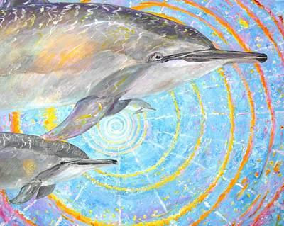 Pele Painting - Infinite Dolphin Universe by Tamara Tavernier