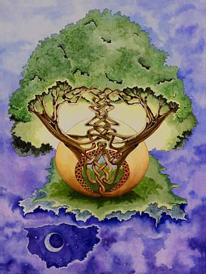 Celtic Tree Of Life Painting - Infinitree by Joyce Hutchinson