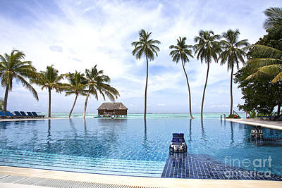 Tropical Photograph - Infinity Pool Meeru by Jane Rix