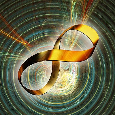 Computer Art Photograph - Infinity Symbol And Black Hole by Pasieka