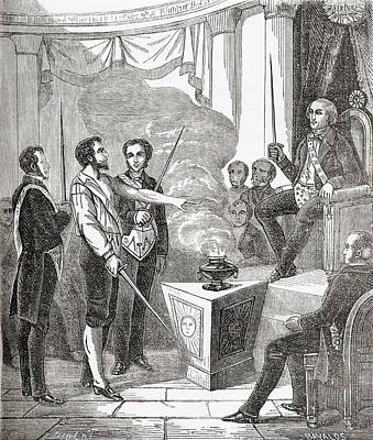 Initiation Of A French Mason Into The Print by Vintage Design Pics