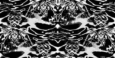 Uplifting Drawing - Ink Blot Test - Human Condition by Abstract Angel Artist Stephen K