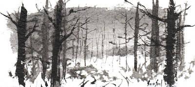 Ink Landscape 1 Print by Sean Seal