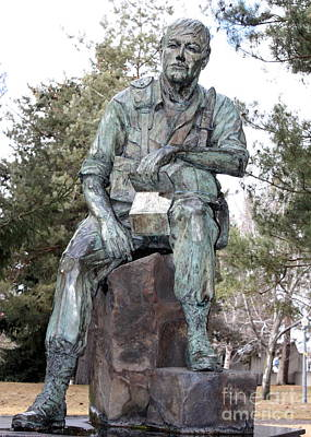 Inland Northwest Veterans Memorial Statue Print by Carol Groenen