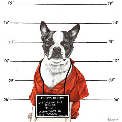 Public Jail Mixed Media - Inmate by Courtney Kenny Porto