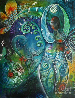 Kiwi Mixed Media - Inner Goddess 1 by Reina Cottier