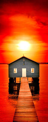 Shed Photograph - Blood Sunset Panorama by Az Jackson
