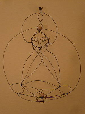 Sculpture - Inner Peace by Live Wire Spirit