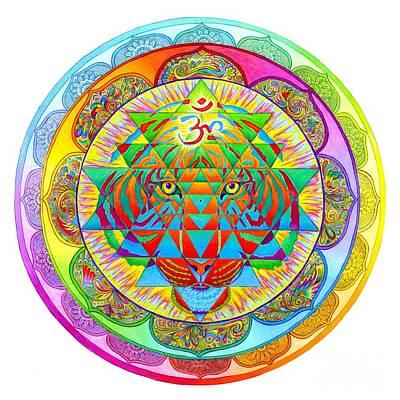 Chakra Rainbow Drawing - Inner Strength by Rebecca Wang