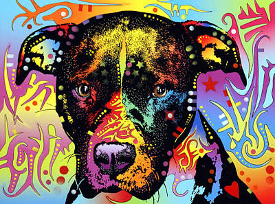 Pitbull Painting - Innocence Pit by Dean Russo