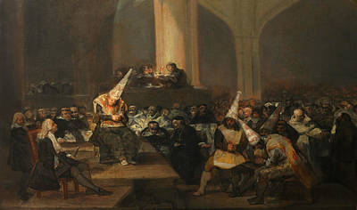 Inquisition Painting - Inquisition Scene by Francisco Goya
