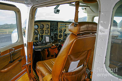 Passenger Plane Photograph - Inside A Small Plane by Patricia Hofmeester
