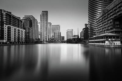 Inside Canary Wharf Print by Ivo Kerssemakers