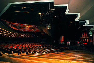 Inside Grand Ole Opry Nashville Print by Susanne Van Hulst