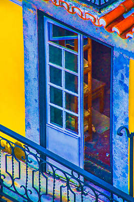 Inside Portugal Home Print by Julie Palencia